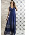 Дълга синя рокля MADLEN