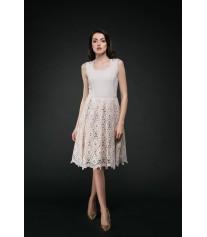 Дълга официална рокля, божов цвят, до коляното DALIA