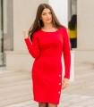 червена рокля KASTA