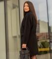 черно вълнено палто ZOQ 3
