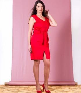 червена рокля MODESTA