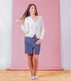 бяло сако SILVIA