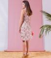 рокля с розова щампа MARIANA 1
