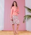 рокля с розова щампа MARIANA 3