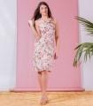 рокля с розова щампа MARIANA