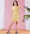 рокля цвят горчица MAKRON