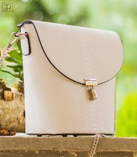 бяла чанта SARI