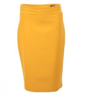 Жълта дамска пола с цепка ETSY