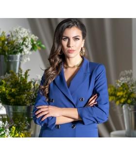 Удължено синьо дамско сако SANTORINI1