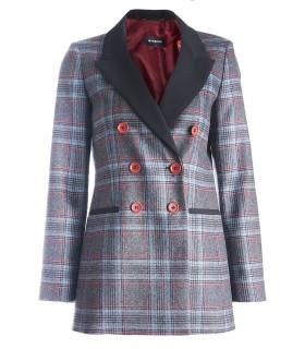 Карирано дамско двуредно сако VISHY