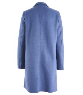 Синьо дълго памучно яке манто POLO
