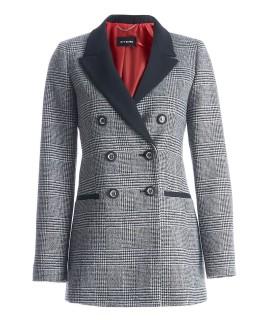 Дамско удължено сако в сиво каре VISHY