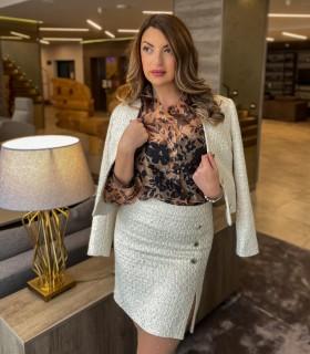 Дамско памучно сако букле VANESA
